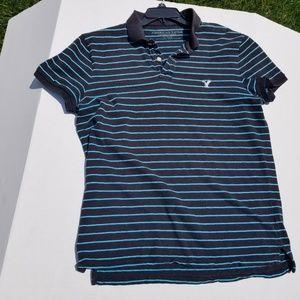 American Eagle Short Sleeve Stripe XL